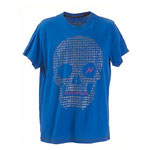Pirate Skull Cobalt Blue Tshirt